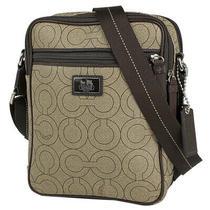 Coach Op Art Shoulder Bag Messenger Bag Shoulder Bag Pvc Beige Brown 70302 Men Photo