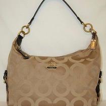 Coach Op Art Shoulder Shopper Tote Bag Euc Photo