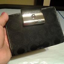 Coach Op Art Signature Black Small Wallet Photo