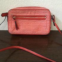 Coach Orange Signature Small Canvas Shoulder/crossbody Handbag Creed C1375-25043 Photo