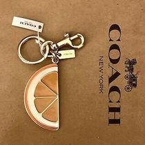 Coach Orange Slice Keyring Bag Charm  Keychain Key Ring Multicolor 1631 New Photo