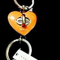 Coach Orange Turnkey Heart Keyring Photo