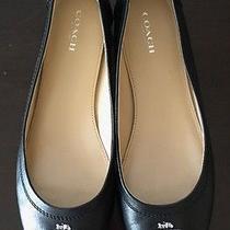 Coach Original Chelsea Ballet Flats Black Slip-on Shoes Sz 8 New Photo