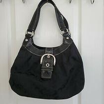Coach Outline F29959 Zip Signature Jacquard Handbag - Black/smoke Photo