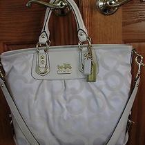 Coach Parchment Op Art Signature Julianne   12963  Nwot Photo