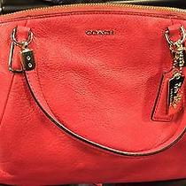 Coach Park Leather Mini Satchel 30281 Gold/crimson Photo