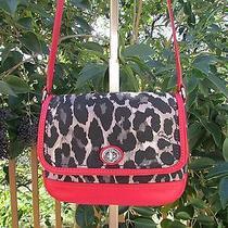 Coach Park Ocelot Red Animal Print Flap Crossbody Bag Shoulder Purse F24103 Photo