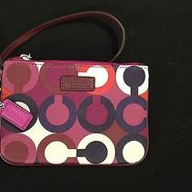 Coach Park Optic Art Print Small Wristlet F50434 Nwt Photo