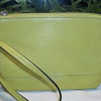 Coach Park Pebble Leather Small Wristlet Wallet Chartreuse Mustard Gold 49475 Photo