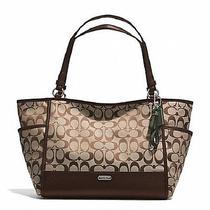 Coach Park Signature Carrie Tote  in Khaki/mahogany - 28728 Photo