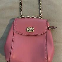 Coach Parker 16 Leather Convertible Mini Backpack Crossbody Nwot Pink 52670 Photo