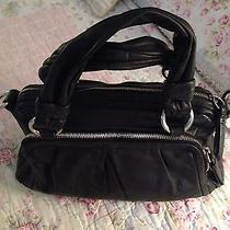 Coach Parker Black Learher Satchel Handbag 14155 Photo