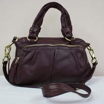Coach Parker Leather Zip Satchel Photo