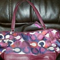 Coach Parker Op Art Handbag F26843 Authentic Photo