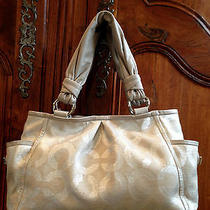 Coach Parker Op Art Riley Shoulder Bag Tote  13510  Photo
