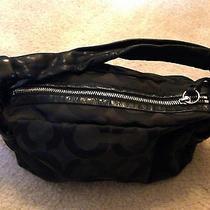Coach Parker Op Art Shoulder Handbag Purse Black 13439 Photo