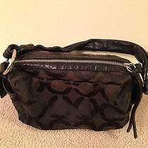 Coach Parker Op Art Shoulder Handbag Purse Black 13439 Photo