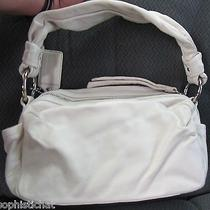 Coach Parker Satchel Handbag Bag Purse Small Duffle Ivory New 13442 Smoke Free  Photo