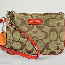 Coach Parker Signature Small Wristlet Wallet Universal Phone Camera Case Nwt Photo
