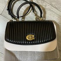 Coach Parker Top Handle With Quilting (Black/brass)  Msrp 450 Photo