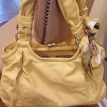 Coach Parker Yellow Leather Satchel Photo