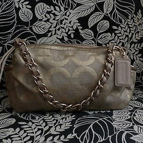 Coach Parker13436 Linen Lurex Op Art Photo