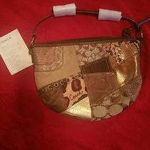 Coach Patchwork Collection Hobo Purse New Brown  Photo