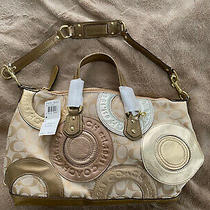 Coach Patchwork Gold Multi Purse Brand New With Tags F15474 458 Photo