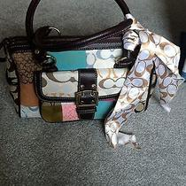 Coach Patchwork Satchel Purse With Scarf  Photo