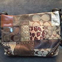 Coach Patchwork Signature Designs Bag With Many Textures Photo