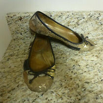 Coach Patchwork  Womens Flats/ Shoes Size 7 Gold/brown Signature    Photo