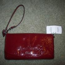 Coach Patent Leather Wristlet Style F48303 Crimson Nwt Photo