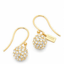 Coach Pave Ball Drop Earring Style F94163 Gd/gold Photo