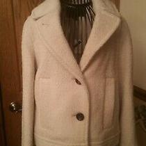 Coach Pea Coat in Wool Oatmeal Color Women Size Xs Photo