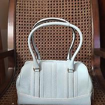 Coach Pebbled Leather Satchel in a Gorgeous Blue Euc Photo
