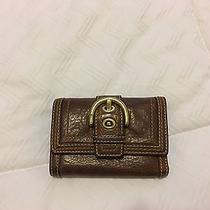Coach Pebbled Leather Wallet Photo