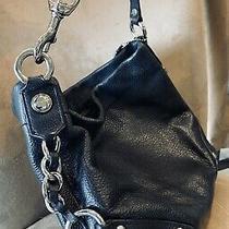 Coach Pebbled Shoulder Bag Black Leather Photo