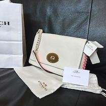 Coach Pebbles Leather Crossbody Bag Crosstown Bag Purse Msrp 295 Photo