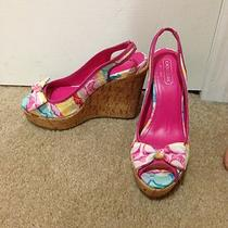 Coach Peeptoe Cork Wedges Photo