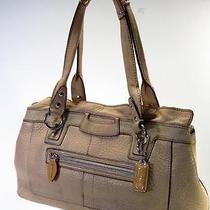 Coach Penelope Beige Pebbled Leather Shoulder Bag  Photo