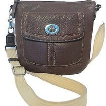 Coach 'Penelope'  Brown Pebble Leather Crossbody Swingpack Bag Purse Photo