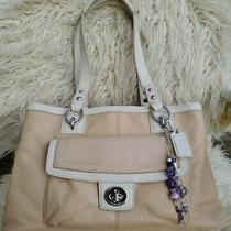 Coach Penelope F19044 Light Creme Carryall Tote Photo