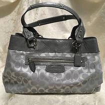 Coach Penelope Grey With Leather Trim Tote L1072 F15533  Photo