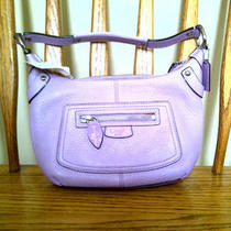 Coach Penelope Lilac Small Leather Hobo F13327 Nwt Photo