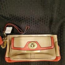 Coach Penelope Spectator Leather Wristlet/clutch  Purse Photo