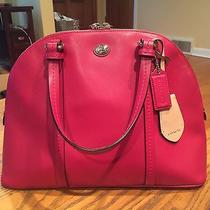 Coach Peyton Leather Cora Domed Satchel - Red  Photo