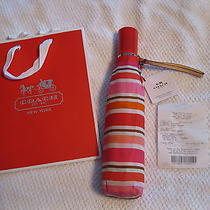 Coach Peyton Multistripe Full Size Umbrella New W/ Tags Gift Bag & Gift Receipt Photo