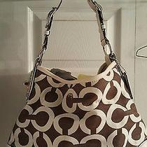 Coach Peyton Op Artgreat Conditionpriced to Sellbrown & Whiteso Cute Photo