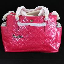 Coach Peyton Op Art Patent Leather Baby Girl Diaper Multifunction Bag 26030 Pink Photo