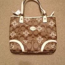 Coach Peyton Signature Clover Tote F22041 Photo